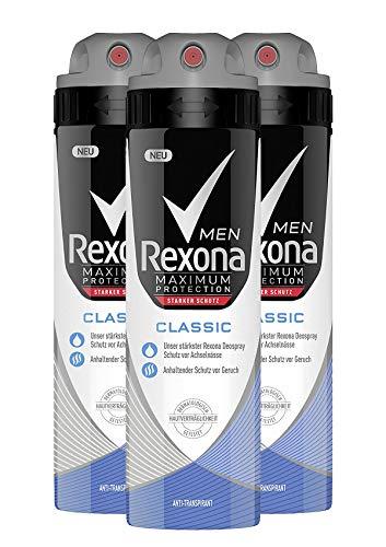 Rexona Men Deospray Maximum Protection Classic Anti-Transpirant, 3er Pack (3 x 150 ml)