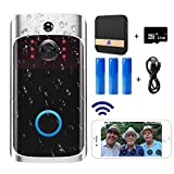 Video Doorbell Camera (2020 Upgraded) with Chime, Wi-Fi with PIR Motion Detection, Wide