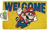 Super Mario Bienvenido Felpudo | Productos Oficiales de Nintendo | Accesorios de Casa de Juego Retro