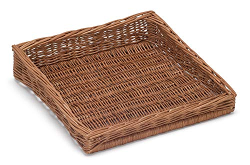 Prestige Wicker Sloping Display Basket Style IV, Willow, Natural, 40 x 30 x 18 cm