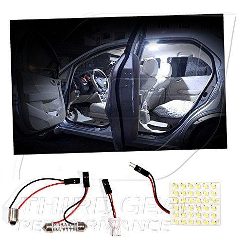Optix TGP White 36 LED SMD Panel Light Bulb for Dome Light Application 2002-2012 Compatible with Mitsubishi Lancer (All)