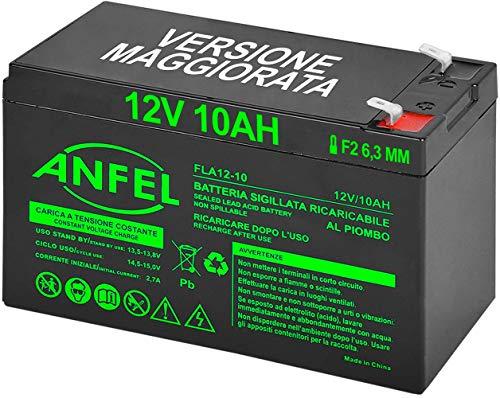 Batteria Lead Acid AGM 12V 10Ah al Piombo Ricaricabile Pila Batteria Ermetica Batterie di Ricambio per ups Bici elettriche Emergenza Elettronica Trattorino Quad