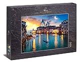 Ulmer Puzzleschmiede - Puzzle Venecia - Puzzle de 1000 Piezas - Atardecer sobre el Gran Canal de Venecia