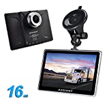 """AZGIANT 7"""" Inch Multifunctional Car Truck Navigation GPS DVR SAT Tablet Touch Screen Android Operating System Free Maps 16 GB"""