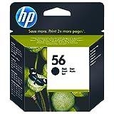 HP Cartucho Negro de inyección de Tinta HP 56 (19 ml) 56 Inkjet Print Cartridges, del 5 al 95% de HR, de -15 a 35° C, de 15 a 35° C, del 5 al 95% de HR, 140 x 113 x 37 mm, 0.08 kg (0.176 Libras)
