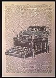 Vintage macchina da scrivere Stampa anticato Dizionario pagina per la parete, retrò Hipst...