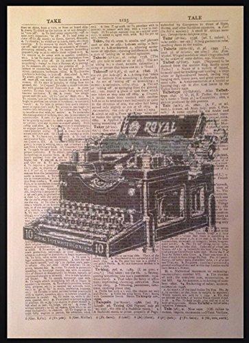 Parksmoonprints - Quadro vintage per macchina da scrivere, immagine retrò hipster stampa steampunk bar eccentrico grammofono macchina fotografica industriale