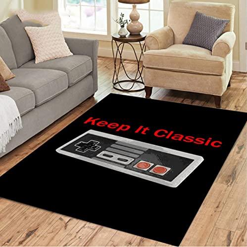 Keep It Classic Gamepad Alfombra para Sala De Estar, Alfombra De Juego De Dormitorio Infantil De Dibujos Animados, Alfombras De Decoración De Habitación para Adolescentes 180*270Cm