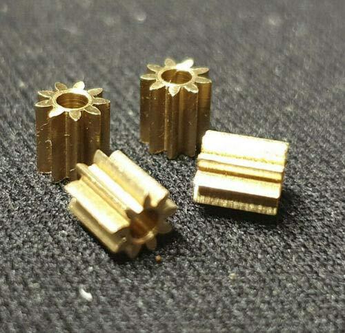 4x Ersatz Ritzel Zahnrad Messing für Lego Duplo Intelli Lok Lokomotive Rutschkupplung Hinterachse 9 Zähne M 0,4