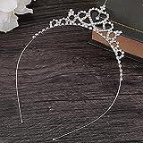 Tiara Corona de Cristal con Diamantes de imitación Peine para Corona Nupcial Proms de Boda desfiles Princesas Fiesta de cumpleaños,Mujer Partido decoración en cumpleaños