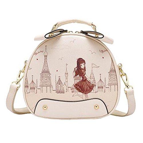 Élégant unique épaule sac à bandoulière, mignon mode bourse, dames belle ronde imprime sac à bandoulière