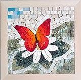 Set mosaico fai da te Quattro Stagioni Primavera 23x23 cm - Tessere mosaico marmo e vetri di Murano-Venezia - Kit hobby creativi per adulti - Quadro fatto da me - Regali originali Natale/Compleanno