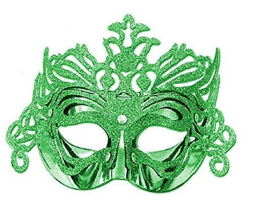Masker - groen - carnaval - halloween - venetiaans - vrouw - carnaval - halloween glitter