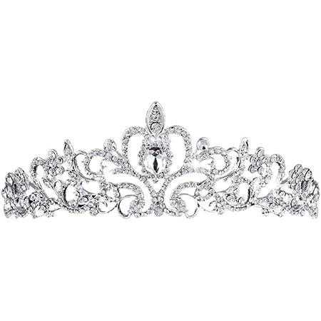BETOY Tiara Corona di Cristallo Bridal Tiara Strass di Cristallo Corona di Cristallo Retro per Ragazza Wedding Tiara Bride Prom
