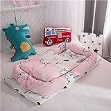 Babynest Baby Nest Bett Krippe mit Quilt Tragbarer Herausnehmbare waschbare Krippe Reisebett for Kinder Säuglingsbaumwoll Wiege for Neugeborene Auto (Color : 1)