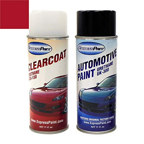 ColorRite Aerosol Automotive Touch-up Paint for Hyundai Veloster - Boston Red Pearl Clearcoat P9R - Color+Clearcoat Package