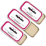 Snugabell Nipbalm Fragrance-Free, Lanolin-Free, Organic Balm for Breastfeeding, Pumping, Dry Skin, Nursing, Burns, Tattoo Healing and More | 3-Pack (3 x ¼ oz/7g)