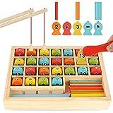 BeebeeRun 3 in 1 Jeu de Magnetique Pêche,Jeux Montessori 2 Ans 3 Ans 4 Ans,Jeu de tri de Couleur Pêche Jouets Educatif Jouet Enfant 3+ Ans