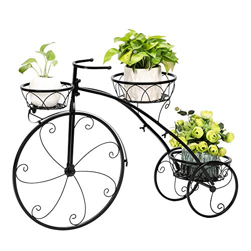 TiTa-Dong Metal Plant Stand,Tricycle Plant Stand,Flower Pot Plant Holder Display Rack for Indoor Outdoor,Motherâ€s Day Gift