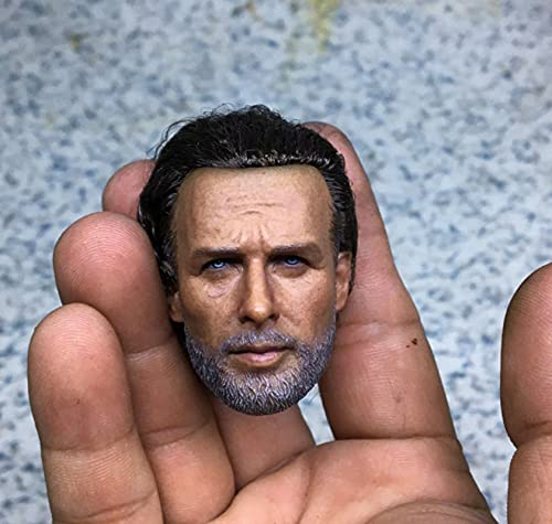 The Walking Dead 1/6 Escala Rick Versión De Trasplante De Cabello Cabeza Escultura Modelo XCAdecuado Cuerpo Modelo De 12 Pulgadas