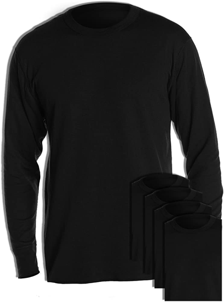Duofold KMW1 Men's Midweight Thermal Crew Black (Pack of 5)