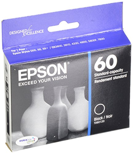 EPSON T060 DURABrite Ultra Ink Standard Capacity Black Cartridge (T060120-S) for select Epson Stylus Printers