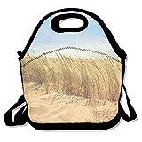 Futonghuaxia Sea-beach-sand-sun décontracté extérieur Sac à déjeuner Lunch Box Isolation thermique Tote Cooler déjeuner Pouch Sac de pique-nique Lunch Tote, pour l'école, au bureau, cadeau pour femme
