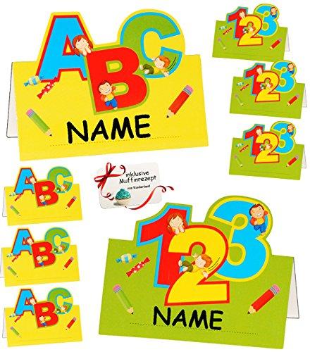 alles-meine.de GmbH 72 Stück _ Tischkarten / Platzkarten -  Schulanfang & Schultüte  - für Jungen & Mädchen - zum Schulanfang & Schuleinführung / Kindergeburtstag - Party Karte..