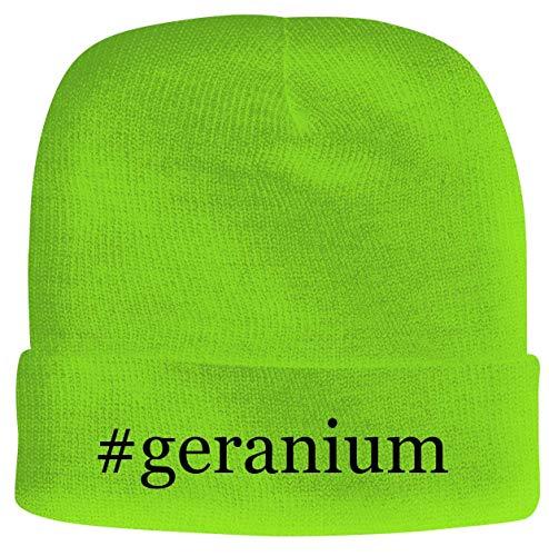 BH Cool Designs #Geranium - Men's Hashtag Soft & Comfortable Beanie Hat Cap, Neon Green, One Size