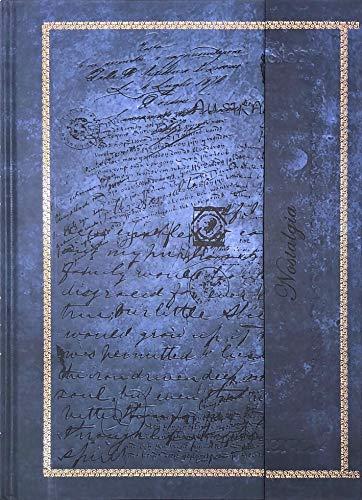 Notizbuch/Tagebuch: Edle Schriften, blau-anthrazit, liniert, A4, mit Magnetverschluss, Hardcover
