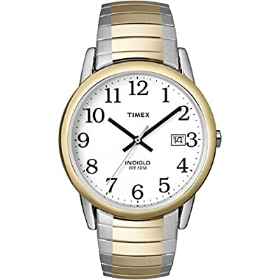 Timex Men's T2H311 Easy Reader 35mm Two-Tone Stainless Steel Expansion Band Watch