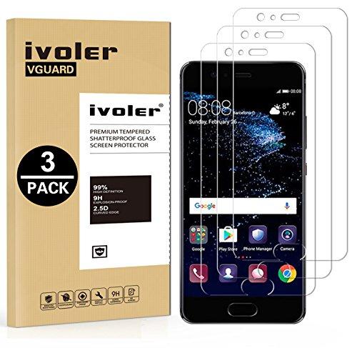 iVoler [3 Pack] Pellicola Vetro Temperato per Huawei P10, Pellicola Protettiva, Protezione per Schermo