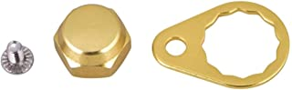 Tbest Screw Nut Cap Bearing Cover for Fishing Reel Left/Right Handle Knob Locking Plate DIY Fishing Accessory 4 Colors Selectable (Pack of 2)(Gold-Right Hand)