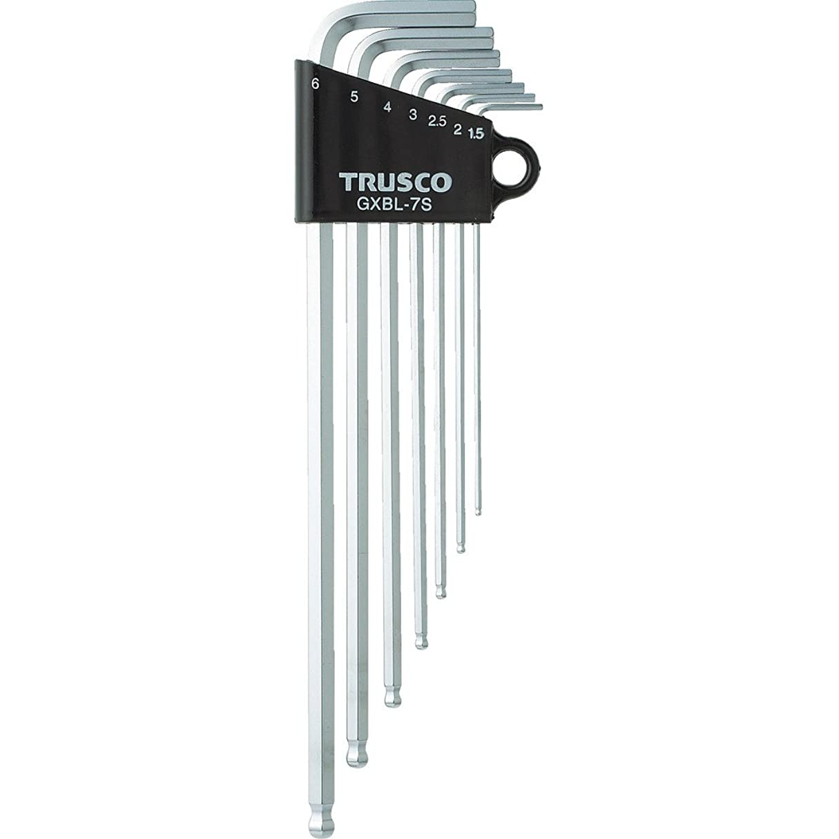 TRUSCO(トラスコ) ロングボールポイント六角棒セット 7本組 GXBL-7S