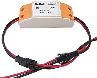 Delinx Mini DC 6V 9V 12V 24V Delay on off Switch Module Timer Relay Board,0 to 20 seconds adjustable (Delay off)