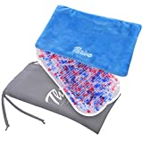 Gel Beads Hot & Cold Compress Ice Pack – 2-Pack – Innovative Reusable Gel Bead Technology Provides Instant Heat or ice Pain Relief, Rehabilitation and Therapy. Includes 2 Packs + 2 Covers