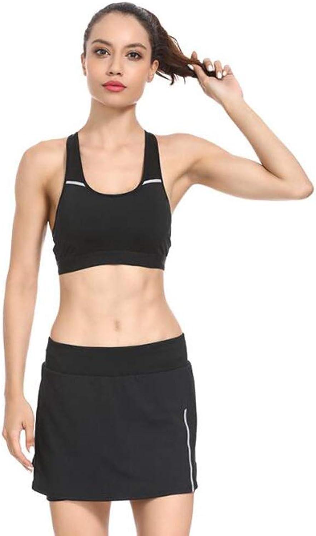 TD Fitnessanzug Atmungsaktiv Yoga Eingestellt BH Schnell Trocknend Sportrock (gre   L)