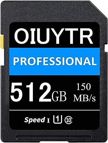 SDXC Karte 512 GB SD-Speicherkarte UHS-I Class 10, U1, 4K UHD, Max 150 MB/S Speed SD-Karte Ideal für Kameras und Camcorder (512 GB)