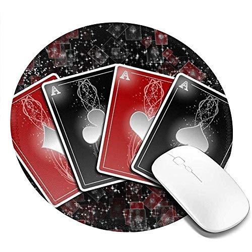 Rubberen antislip ronde muismat - bedrukken de gaming-muismat met prachtige beker kaarten voor computerlaptops
