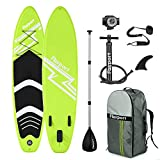 FBSPORT Tabla Sup Hinchable, Hinchable de Paddle Surf, Tabla de Surf Hinchable, Tabla de Paddle Surf, Sup Kit con Remo de Aluminio + Bomba +Accesorios Completos | Medidas: 300×76×15cm