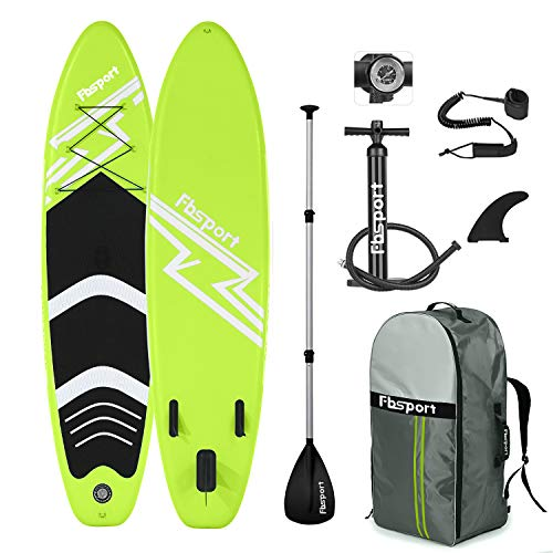 FBSPORT Tabla Sup Hinchable, Tabla de Surf Hinchable, Tabla Inflable de Paddle Surf, Sup Kit con Remo de Aluminio+Accesorios Completos | Medidas: 300×76×15cm