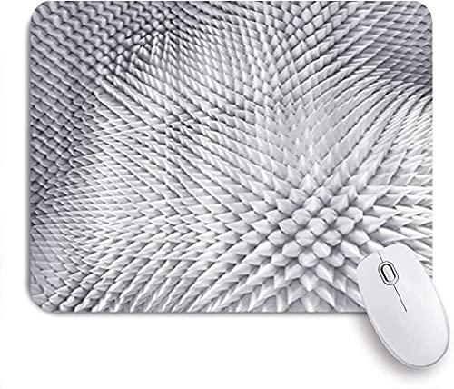 Alfombrilla para ratón para Juegos, Fondo de Textura Plateada con Pinchos, Alfombrilla para ratón con Base de Goma Antideslizante para Ordenadores portátiles Alfombrillas para ratón - 10 'x 8'