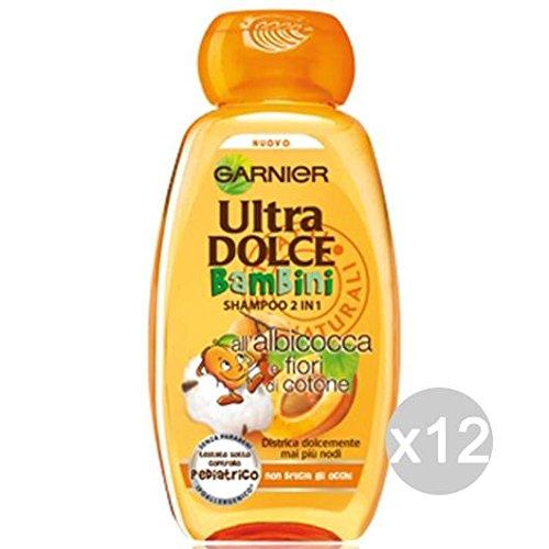 Set 12 GARNIER Ultra Dulce Niño Apricot Shampoo 2 En Atención 1 Hair