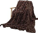 QQEER Leopard Kristall Plüsch Wurf Bettwäsche Decke, Decke Häschen-Baby-Decke Kristall Kurze Plüsch-Sofa-Abdeckung Decke,A-130 * 160cm
