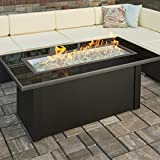 The Outdoor GreatRoom Company Fire Pit Table with Black Glass Top