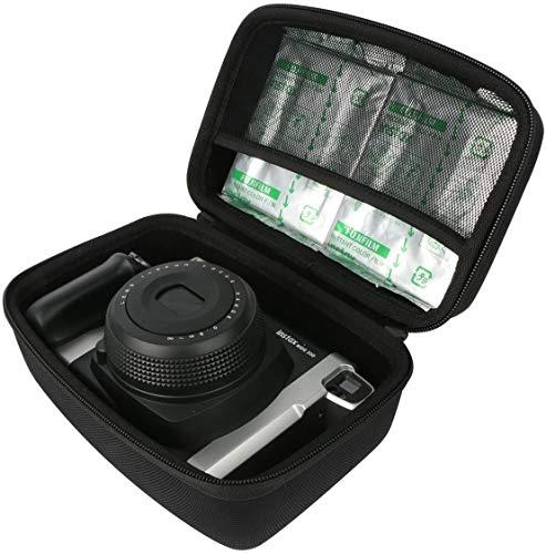 Khanka Hart Tasche Schutzhülle Für Fujifilm Instax Wide 300 Sofortbildkamera. (Schwarz)