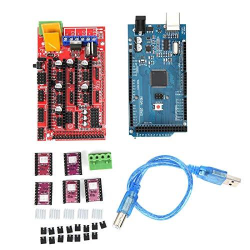 RAMPS 1.4 Placa de circuito impreso 8825 disipador de calor controlador de motor paso a paso CH340 Motor Drivers Set 3D Impresora Kit para Mega 2560 para Reprap