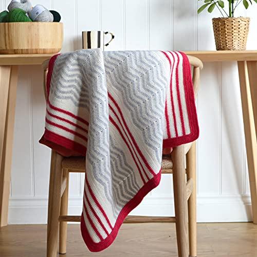 Zig Zag and Stripe Blanket Crochet Kit/Set - Nivel de habilidad - Intermedio