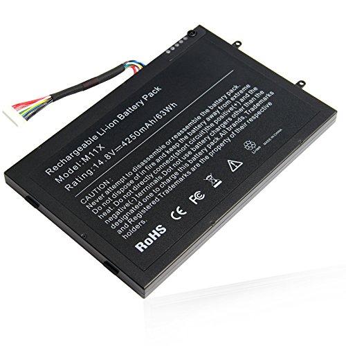 ARyee 4250mAh 14.8V M11X Batería para DELL Alienware M11x M11xR2 M11xR3 M14x...