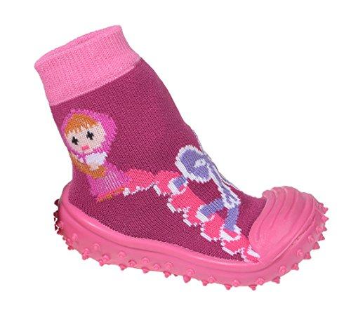 Miobo Baby Hausschuhe Babysocken ABS Gummisohle Babyschuhe Antirutsch Schuhe Lila 19